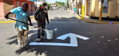 Trabajan en acondicionamiento Reata, señalización de vías y limpieza entorno play municipal.